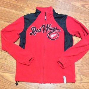 EUC NHL RedWings Fleece Jacket Sm.Child